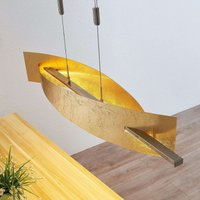 Lámpara colgante LED Marija, dorado panel vertical