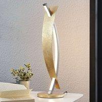 Lámpara de mesa LED Marija, elegante diseño dorado