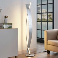 Lámpara de pie LED Marija, elegante diseño plata