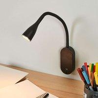 Lámpara de pared LED Enna orientable, conexión USB