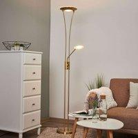 Lámpara de pie Eda con luz de lectura y atenuador