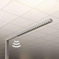 Lámpara de pie LED oficina Laris, plata, 4.000K
