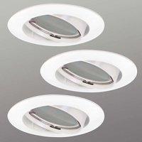 Foco empotrado LED Downlight DIM Flat 3 uds blanco