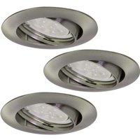 Foco empotrado LED Downlight DIM Flat 3 uds níquel