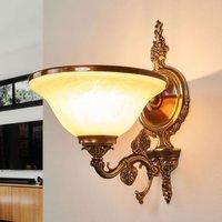 Lámpara de pared RIALTO, vidrio ámbar