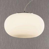 Lámpara colgante LED vidrio opalino Aglaja, blanca