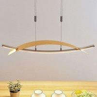 Lámpara colgante LED Marija, oro, panel horizontal