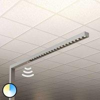 Lámpara de pie LED Laris, plata, 3.000-6.000K