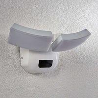 Aplique LED para exterior Nikias sensor, 2 luces