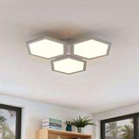 Lámpara de techo LED Leas atenuable, CCT, 3 luces