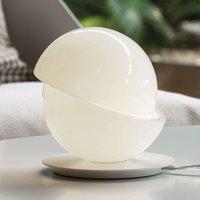 Mooie glazen tafellamp met LED Aibu