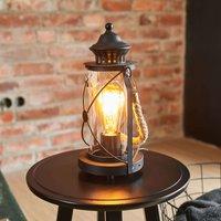 Zwarte lantaarn tafellamp Kirian