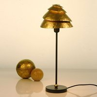 Opmerkelijke tafellamp SNAIL ONE - bruin-goud