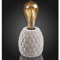Tafellamp Zement, lamphouder met honingraatpatroon
