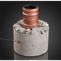 Sokkel-tafellamp Zement in grijs