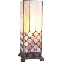 Rechthoekige tafellamp Irma in Tiffany-stijl