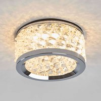 Inbouwlamp Iwen, chroom met kristallen