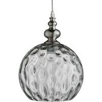 Antiek gevormde hanglamp Indiana zilver