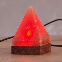 Kleine tafellamp Pyramide met USB voor computer