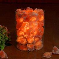 Zoutkristalvuur in glas