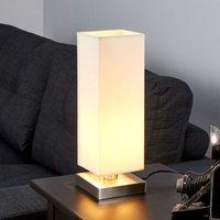 Martje - witte tafellamp met E14 LED-lamp