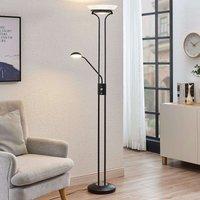 LED uplighter Dimitra m. leeslamp, zwart