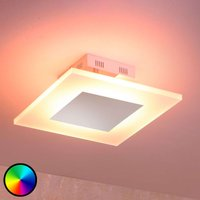 LED plafondlamp Frerk, lichtkleur verstelbaar