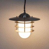 Decoratieve buitenhanglamp Mian, roestvrij staal