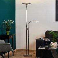 LED vloerlamp Annik, schijnwerper en leeslamp
