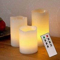 Bougies décoratives LED Candle Wax en cire