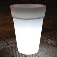 Lámpara macetero redonda SHINING POT, altura 68 cm
