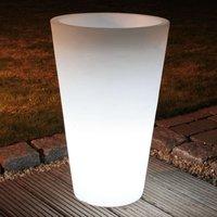 Lámpara macetero redonda SHINING POT, altura 63 cm