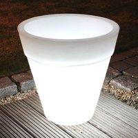 Lámpara macetero redonda SHINING POT, altura 48 cm