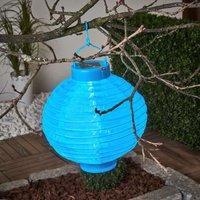 LED-Solar-Lampion Jerrit 20 cm, blau