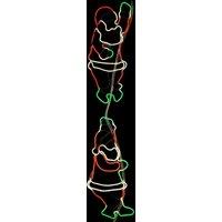Kletternde Weihnachtsmänner - LED-Außendeko NeoLED