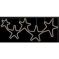 Sternengruppe in Weiß - LED-Außendeko NeoLED