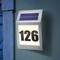 Style - LED-Hausnummernleuchte mit Solarmodul