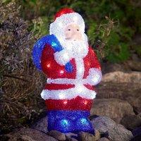 Bunter LED-Acryl-Weihnachtsmann 36,5cm