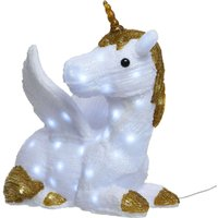Liegendes Einhorn Pfanny - LED-Acryl-Leuchtfigur