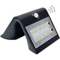 Wave M - LED-Solar-Wandleuchte mit Sensor, schwarz