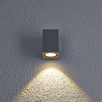 LED-Außenwandleuchte Tavi, alugrau, Höhe 9,5 cm