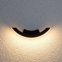 Grafitfarbene LED-Außenwandleuchte Half