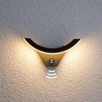 LED-Außenwandleuchte Half mit Bewegungssensor