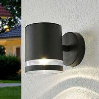 Graue LED-Solar-Außenwandlampe Melinda
