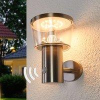 Solarbetriebene LED-Außenwandlampe Antje m. Sensor