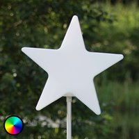 Star - leuchtender Stern auf 100 cm langem Stab