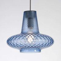 Glas-Pendelleuchte Giulietta, blau