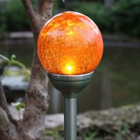 Roma - Solar-Erdspießleuchte mit amberfarbener LED