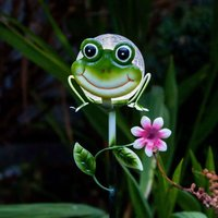 Solar-Erdspießleuchte Sicily Frosch