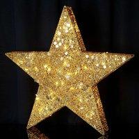 Fünfzackiger Stern Sequini - gold
